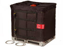 IBC and tote insulated high power heating jackets