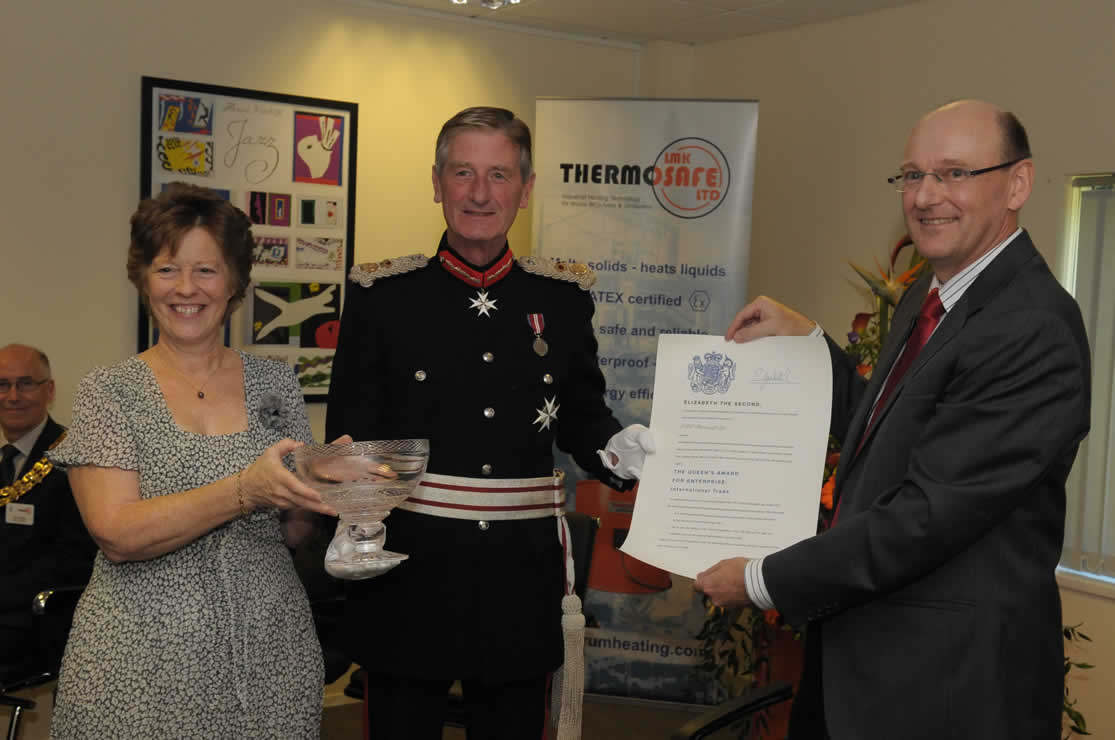 Queens Award for Enterprise Presentation to LMK Thermosafe Ltd, Photo number one.