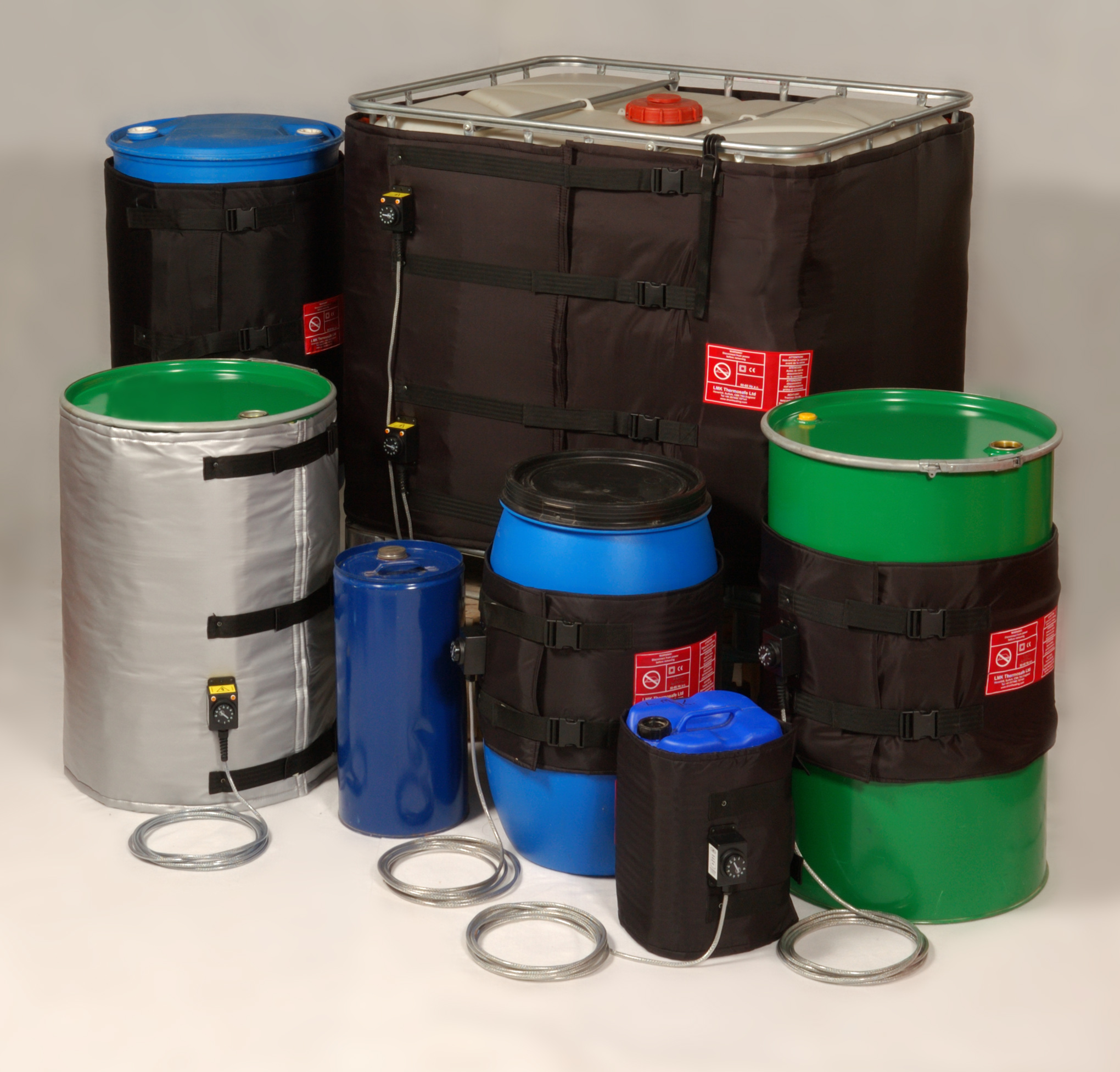 Insulated Flexible Heating Jackets for Drums and Containers
